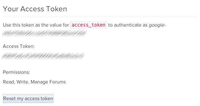 Getting access token